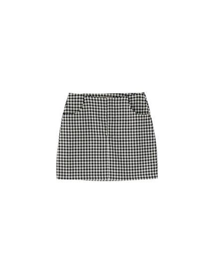 Minijupe poches tailoring