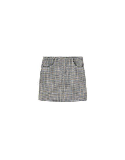 Minifalda tailoring bolsillos