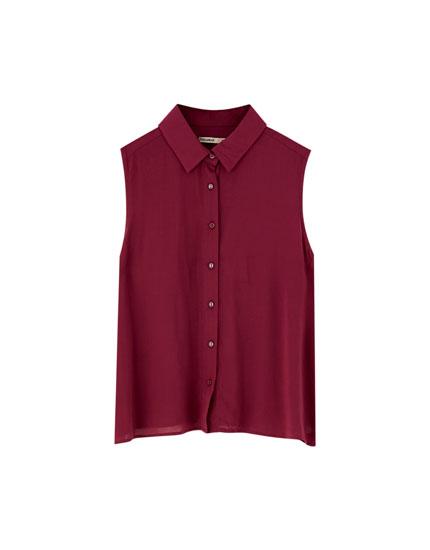 Basic mouwloze blouse