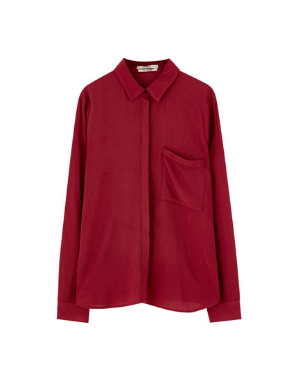 Plain long sleeve shirt
