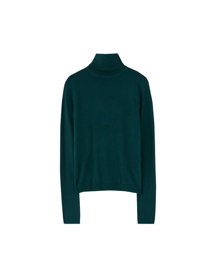Basic højhalset sweater