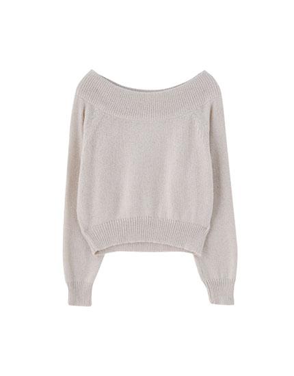 Sweater escote bardot Join Life