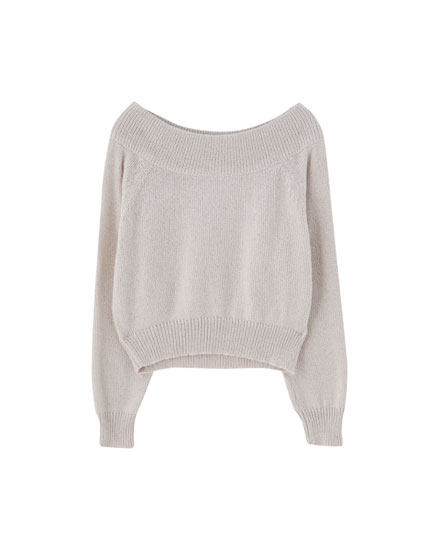 Join Life Bardot neckline sweater
