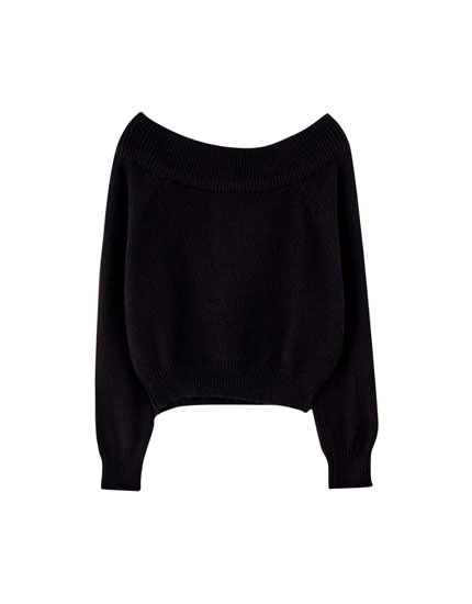 Sweater med off-shoulder Join Life