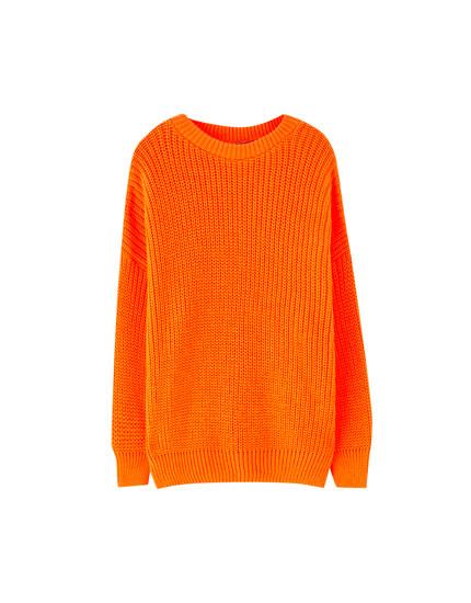 Neon Sweater Purl amp;bear Knit Pull 0x0wqgR8