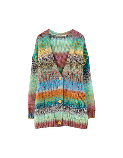 Button-up knit cardigan