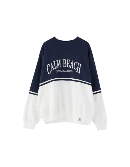 Two-tone 'Calm Beach' sweatshirt