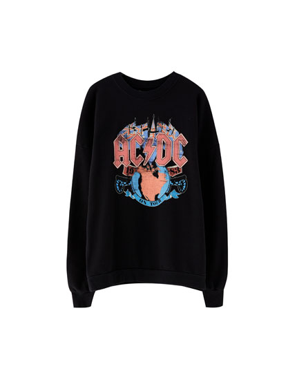 Coloured AC/DC logo sweatshirt
