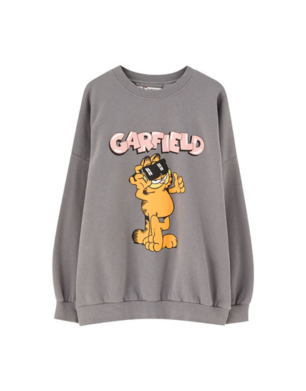 Sweatshirt Garfield in verwaschener Optik
