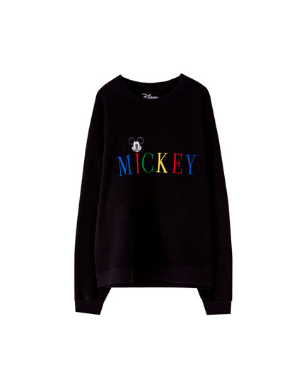 Mickey Mouse sweatshirt with embroidered letters