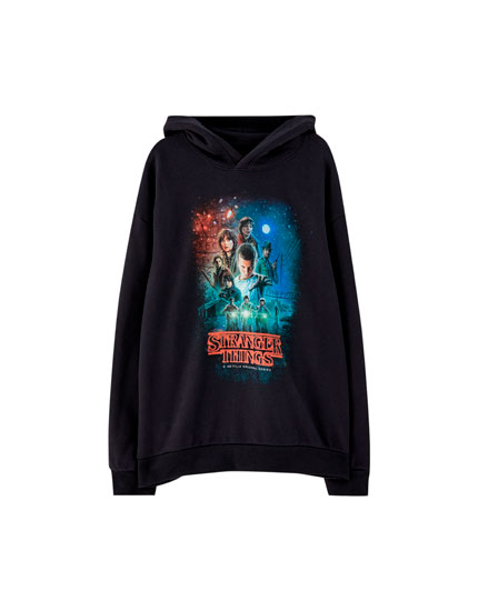 04f609996b44 Netflix Stranger Things hoodie - PULL BEAR