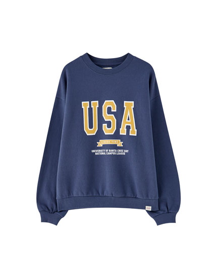 Sudadera college 'USA'