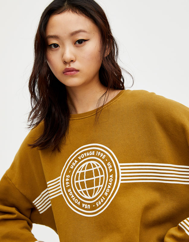 Join Life Faded Effect Sweatshirt by Pull & Bear