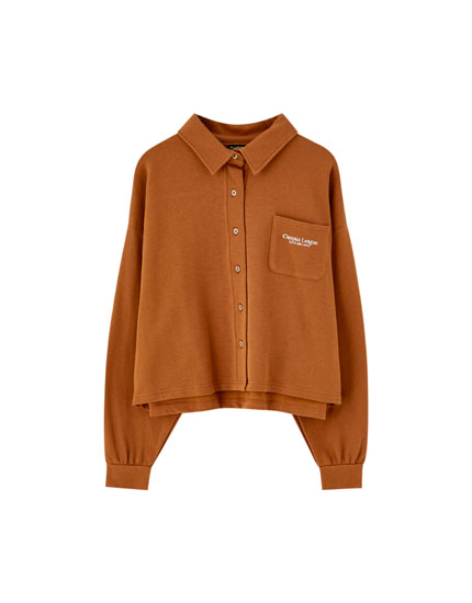 Plush overshirt