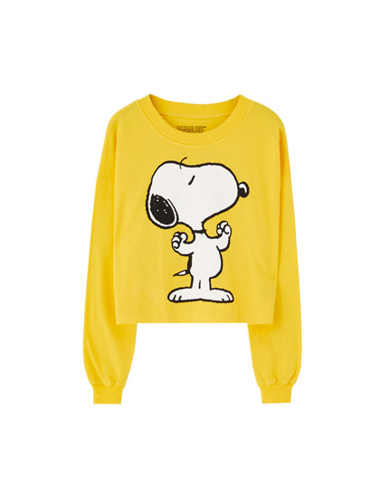 Yellow Snoopy sweatshirt