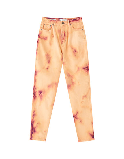 Pantalon dégradé orange