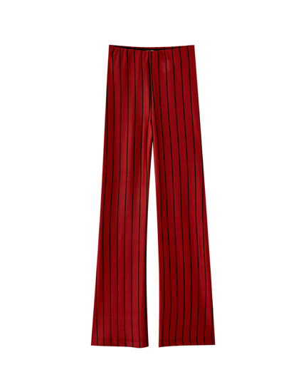 Loose-fitting striped trousers