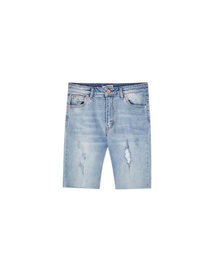 Denim cycling Bermudas