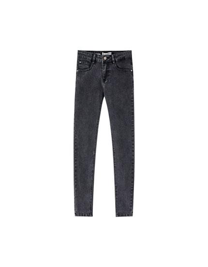 Skinny-Fit-Jeans mit tiefem Bund