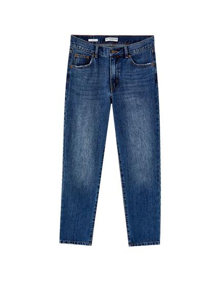 Jean 100% coton coupe droite