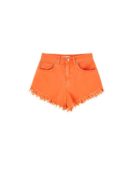 Pantalons curts texans taronges