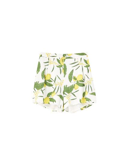 Lemon print Bermudas