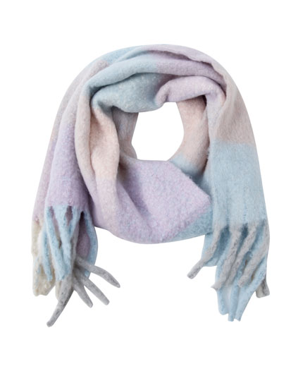 Mohair-effect wool scarf