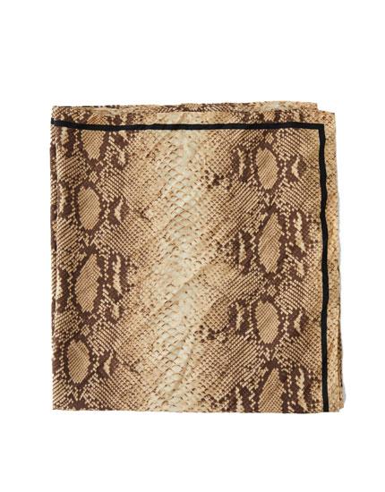 Snake print handkerchief