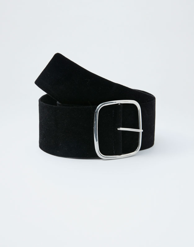 Wide Belt With Maxi Buckle by Pull & Bear