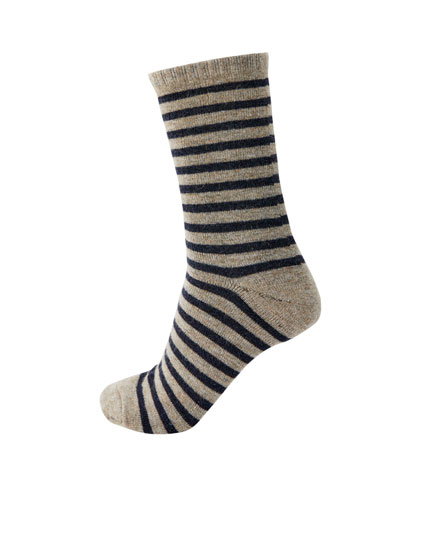 Striped long socks