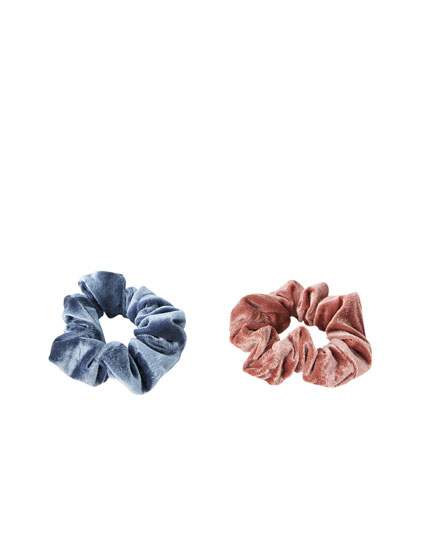 Scrunchies i velour