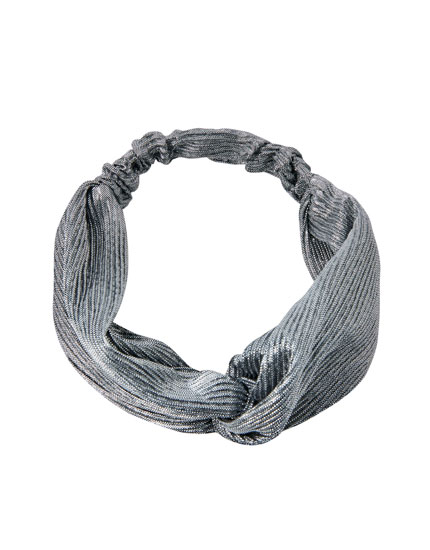 Metallic thread headband