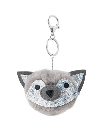 Glitter fox key ring