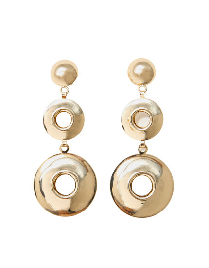 Hoop motif earrings