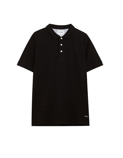 Basic piqué polo shirt