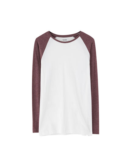 T-shirt with long raglan sleeves