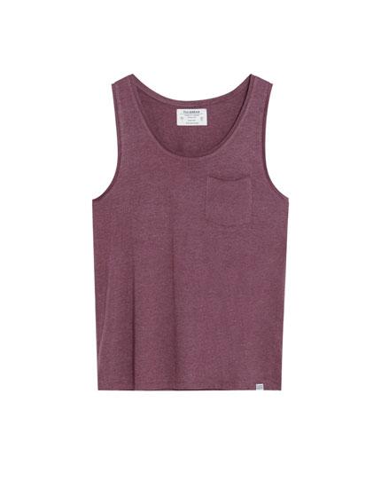 Camiseta de tirantes con bolsillo