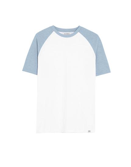 Camiseta Join Life flamé manga contraste