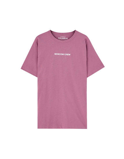 Purple 'Moscow Crew' T-shirt