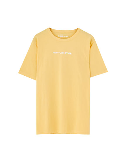 Yellow 'New York State' T-shirt