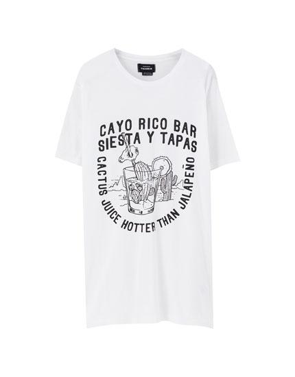 White 'Cayo Rico' T-shirt