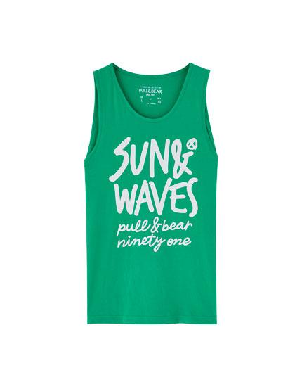 Débardeur imprimé «Sun & Waves»