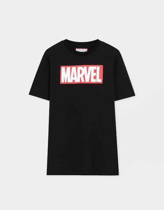 908f28f1f7801 Camiseta manga corta logo Marvel - PULL BEAR