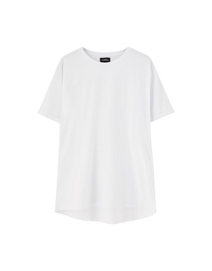 Long fit basic T-shirt