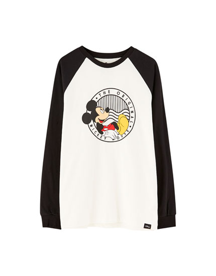 Camiseta Mickey Mouse manga larga