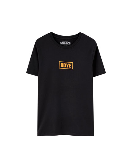 XDYE short sleeve T-shirt with logo