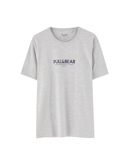 T-shirt with Pull&Bear logo and cities