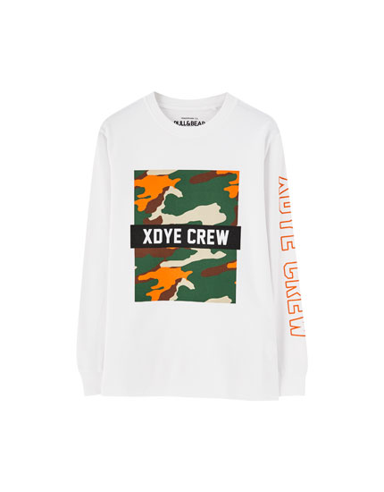 XDYE long sleeve T-shirt with logo