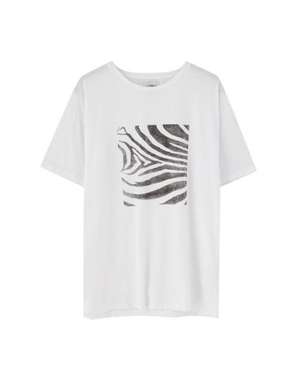 T-shirt zébré manches courtes