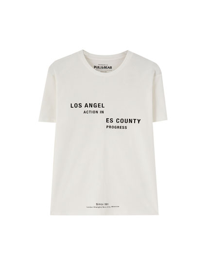 White 'Los Angeles County' T-shirt